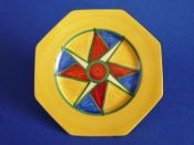 Early Clarice Cliff Original Bizarre Octagonal Tea Plate c1928